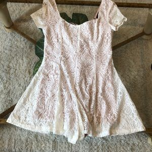 NWT Forever 21 lacy lace-up dress-looking romper